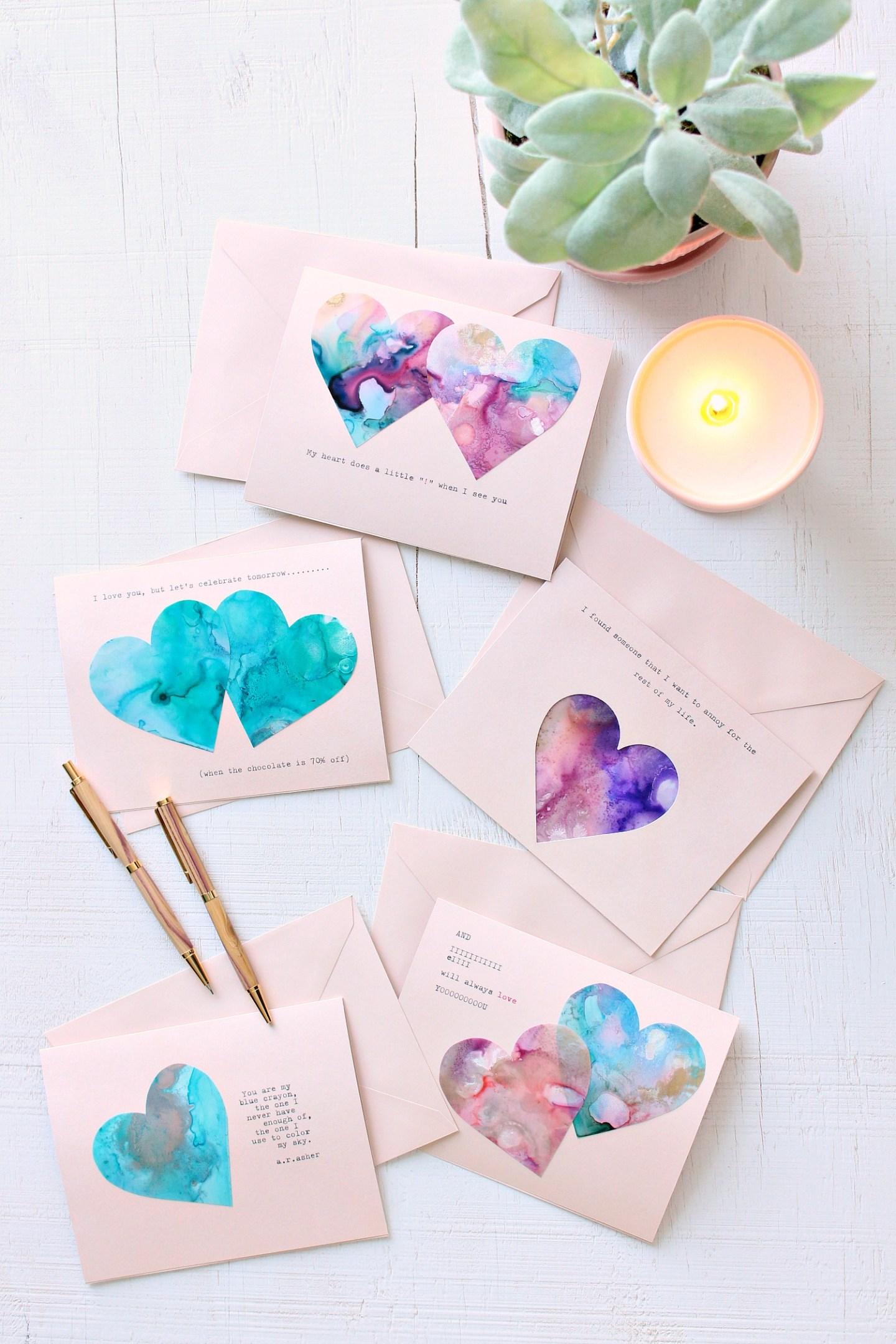 Last Minute Handmade Valentine's Day Cards