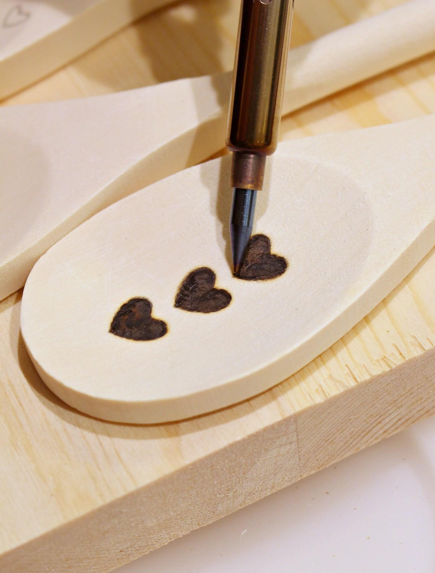 Wood Burned Wooden Spoon DIY