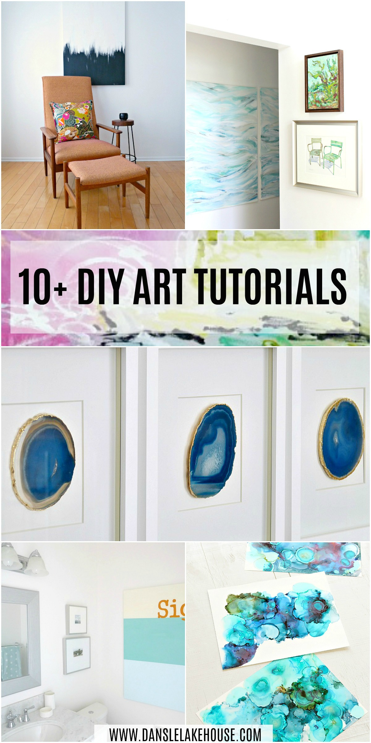10+ DIY Art Project Tutorials Plus Learn How to Frame Canvas Art