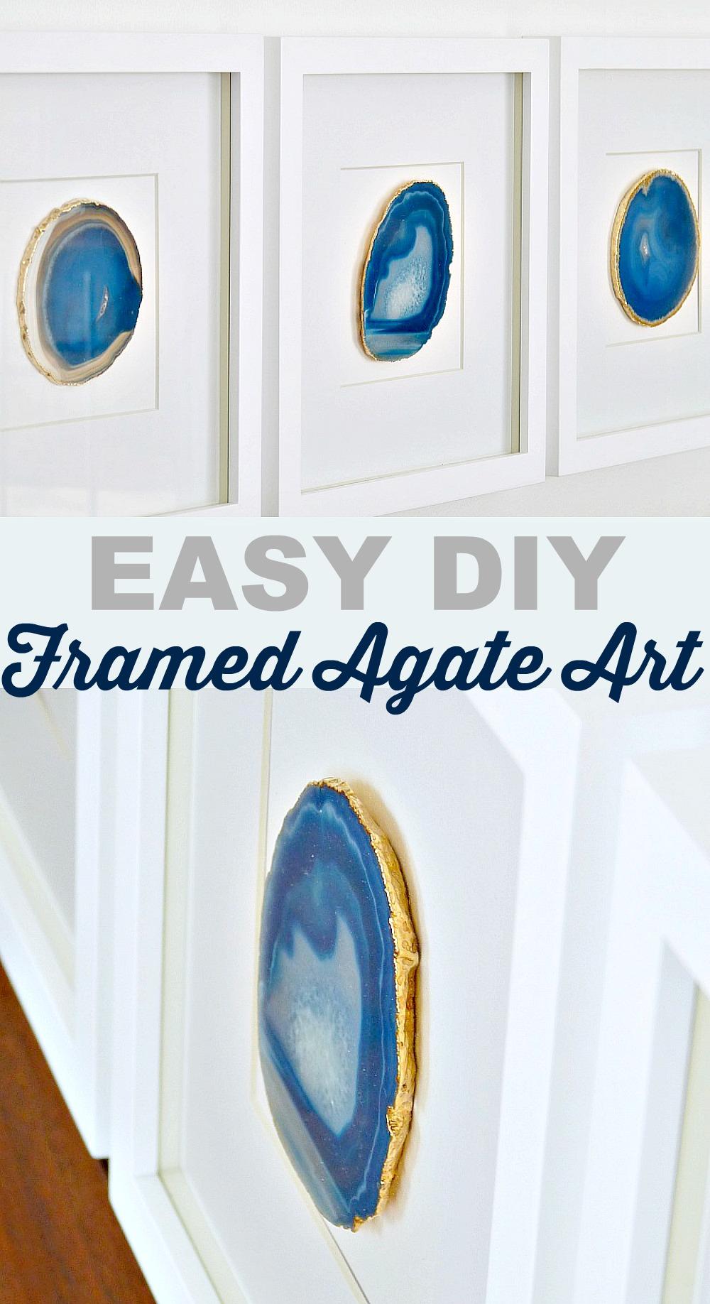 framed agate art
