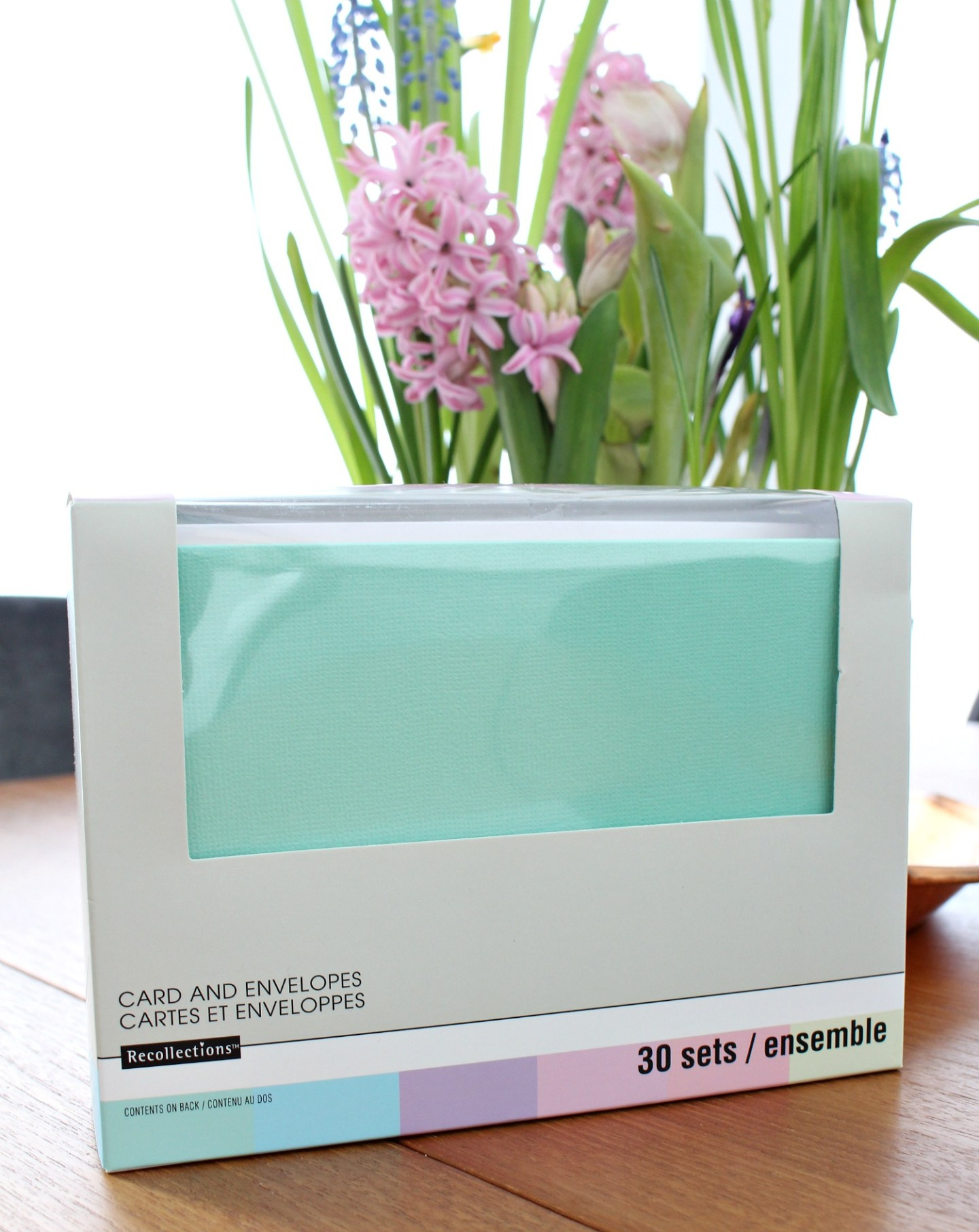 pastel colored blank cards and envelopes