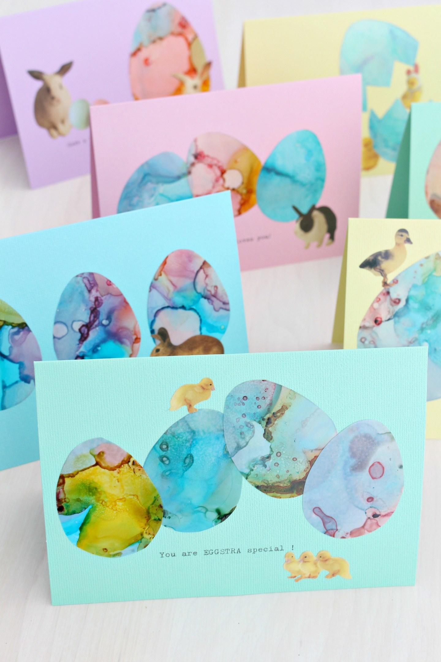 alcohol ink Easter card DIY tutorial