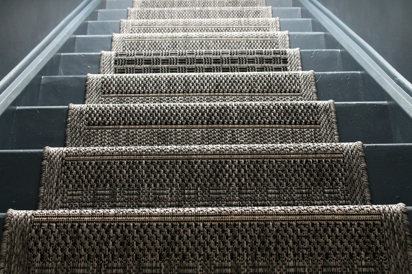 grey painted stairs
