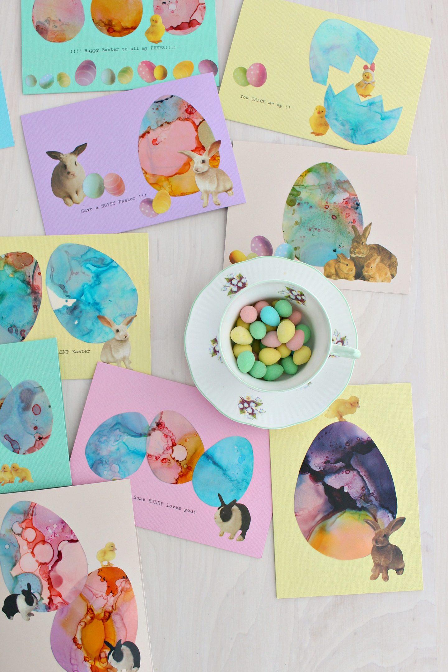 easter egg themed DIY cards