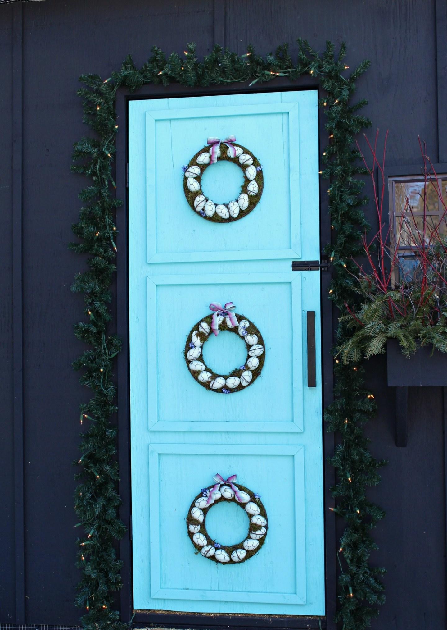 Turquoise Egg Wreath