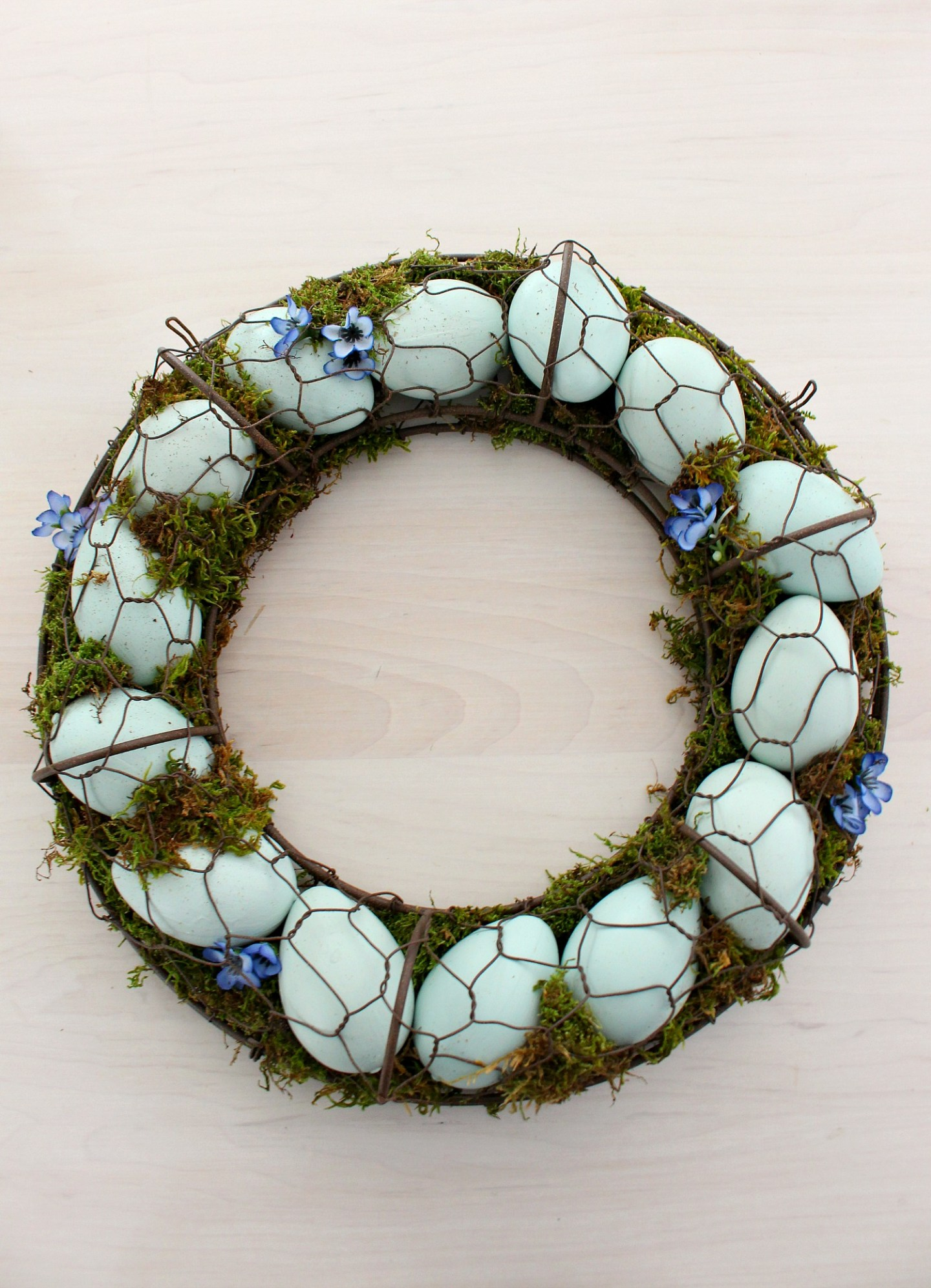 Natural Moss and Egg Wreath