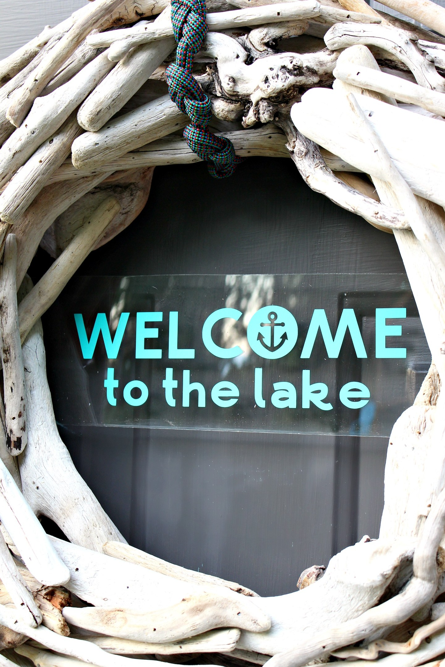 DIY Coatal Welcome Sign