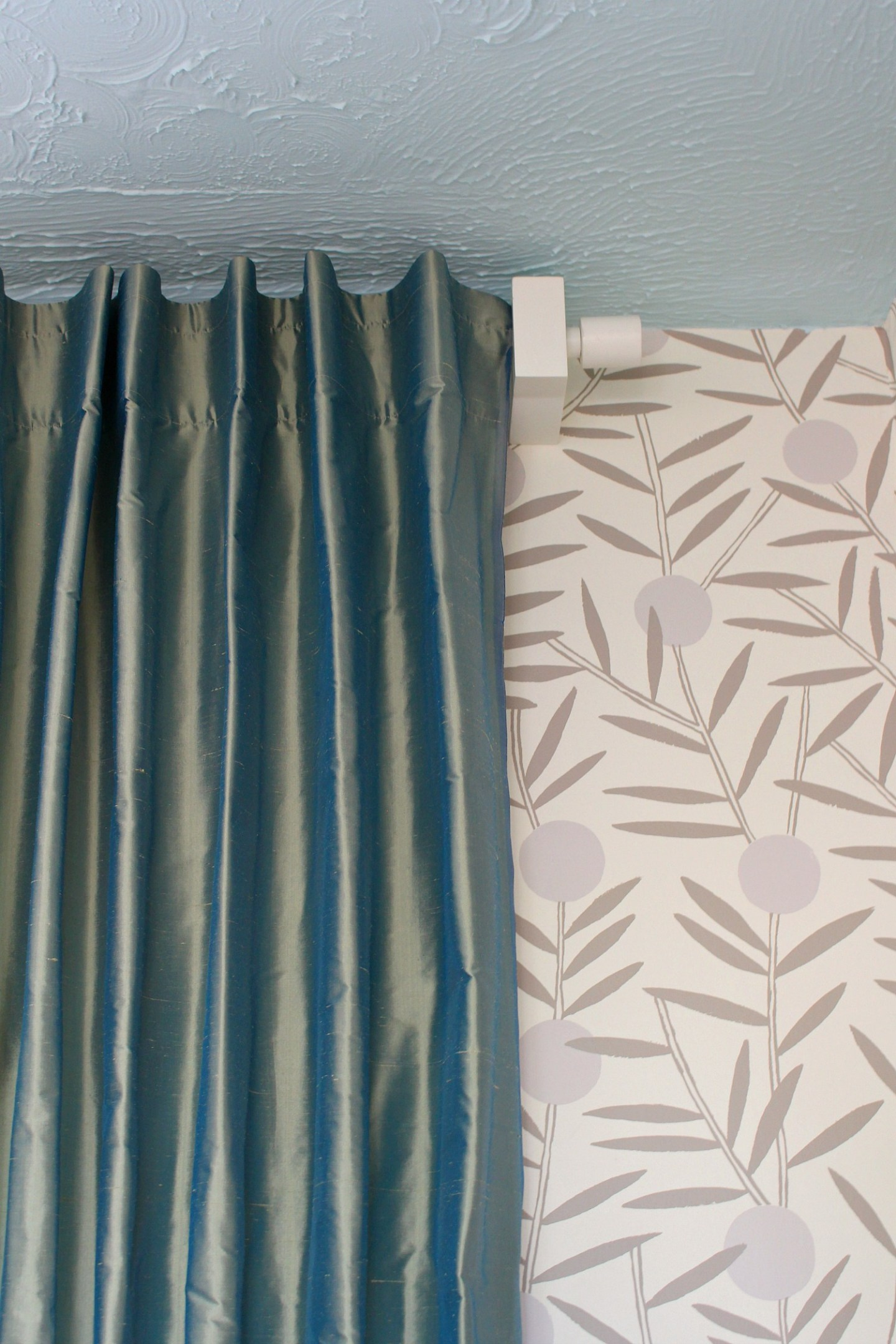 silk back tab curtain how-to