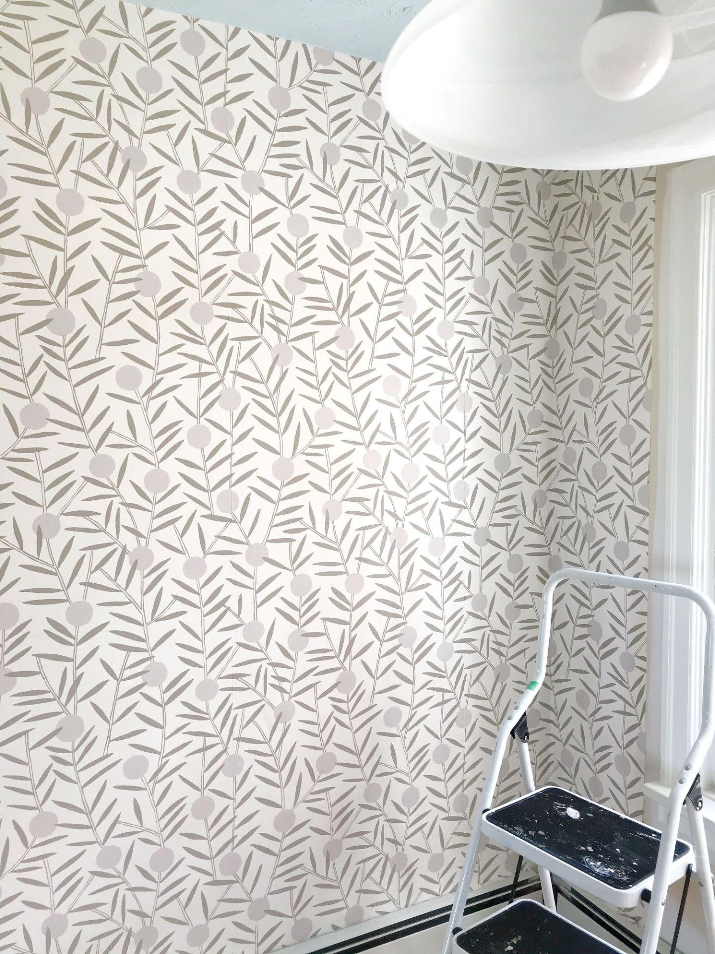 Non-Pasted Wallpaper DIY