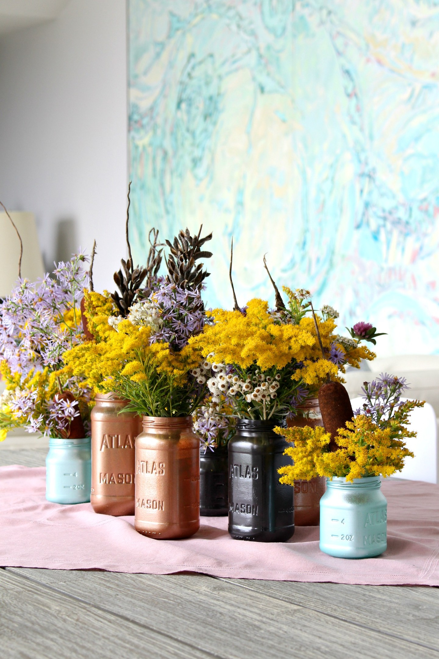 Upcycled Jars as Vases