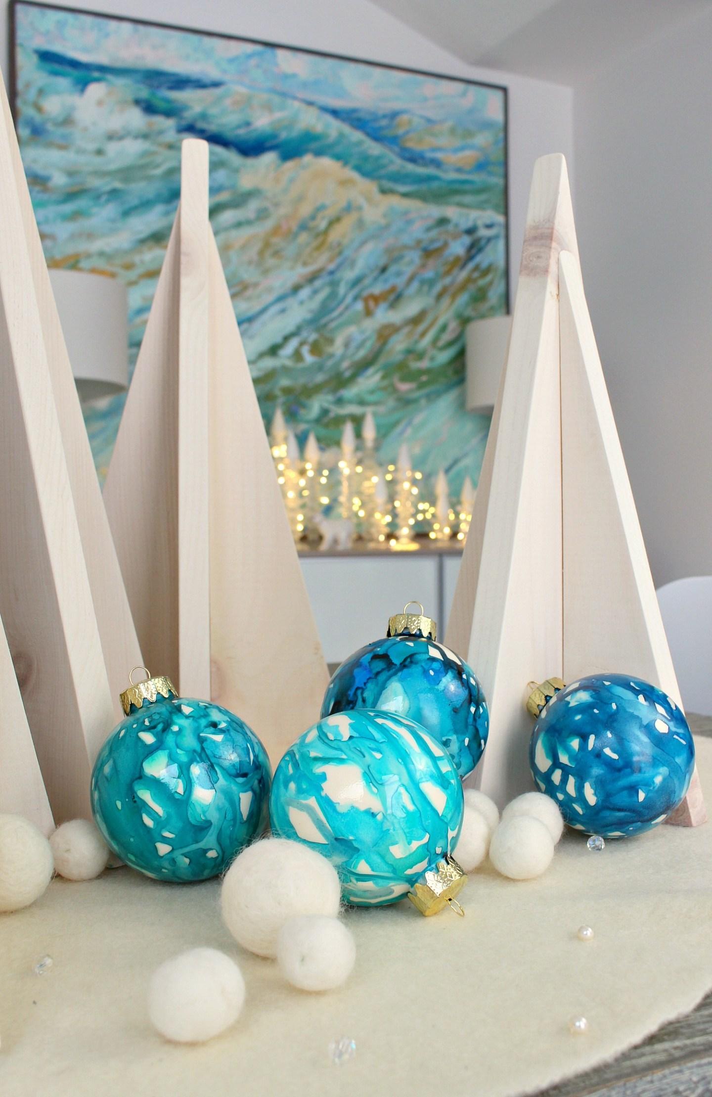 Lake Inspired Christmas Tree Ornaments