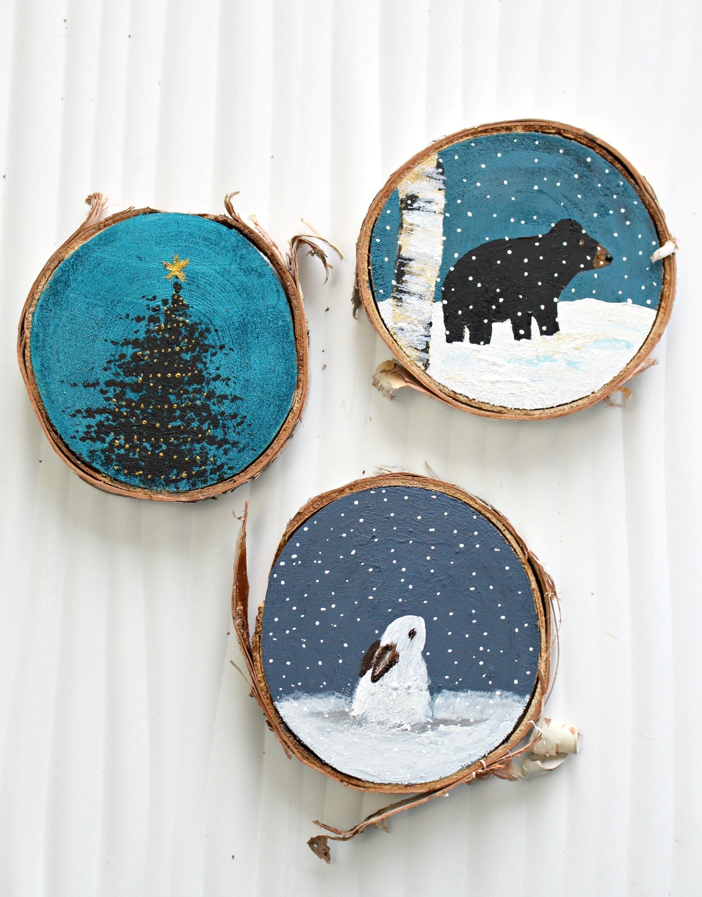 Woodland Themed Christmas Ornaments