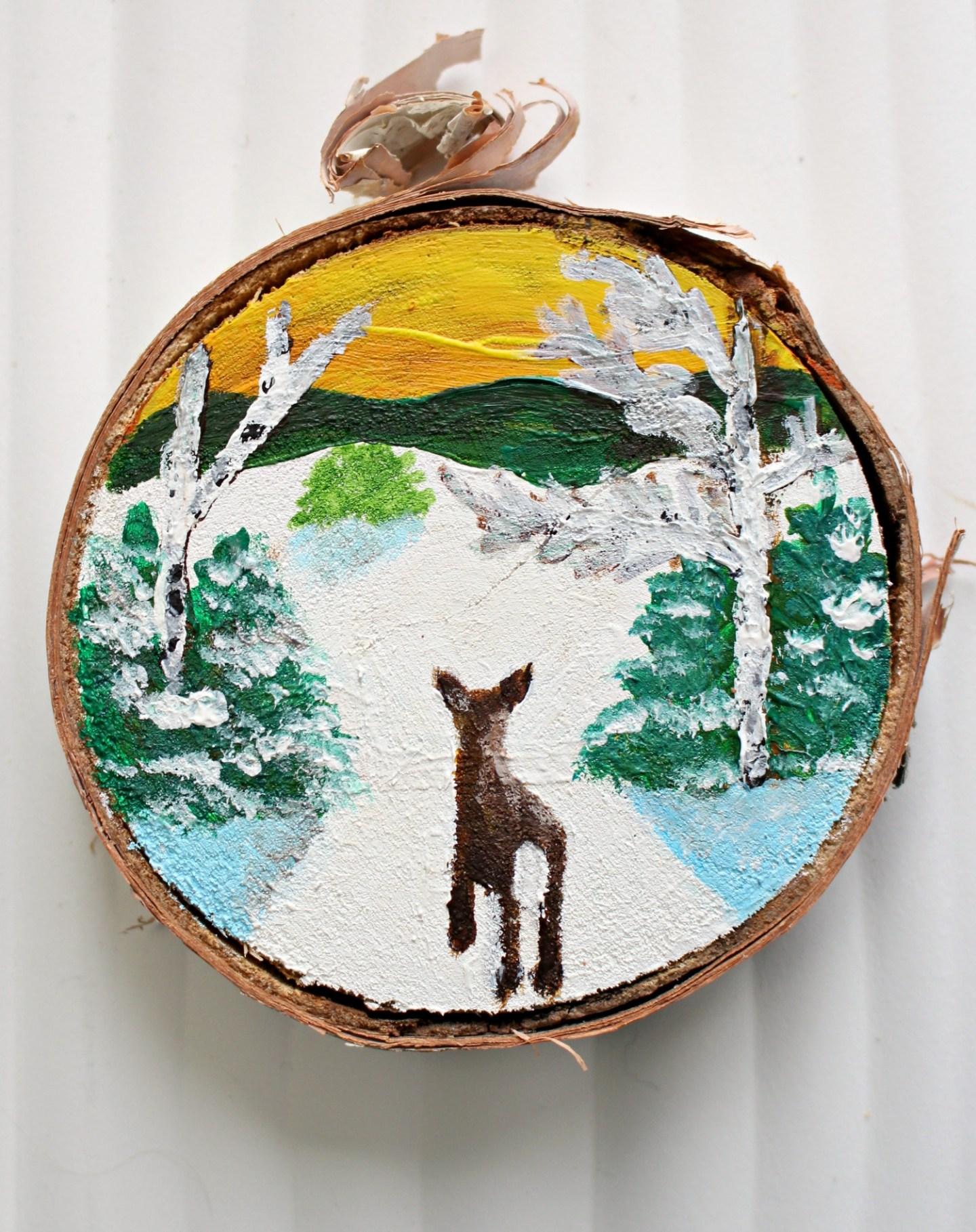 Folk Art Inspired Christmas Ornaments