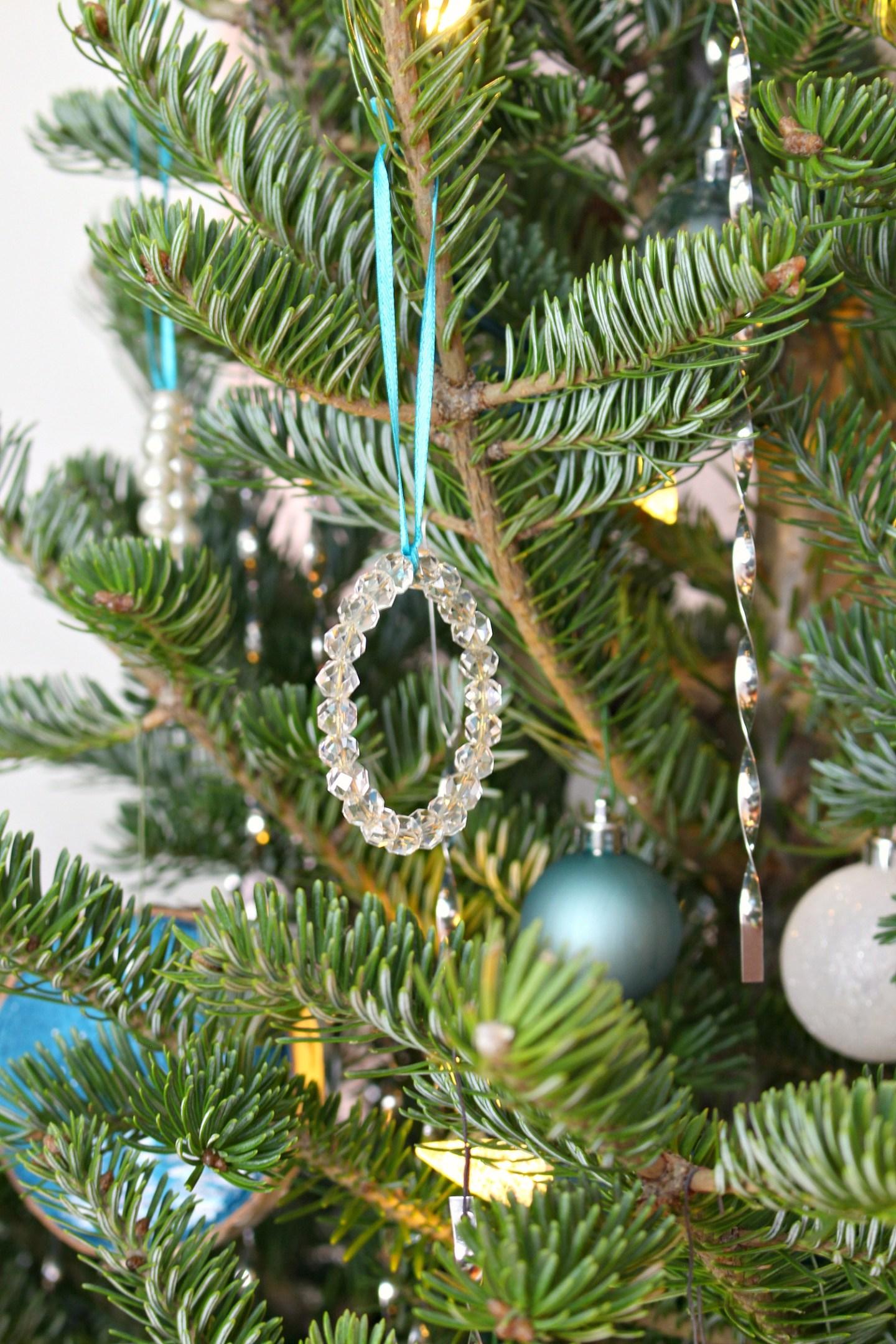 Glass Beaded Christmas Ornament