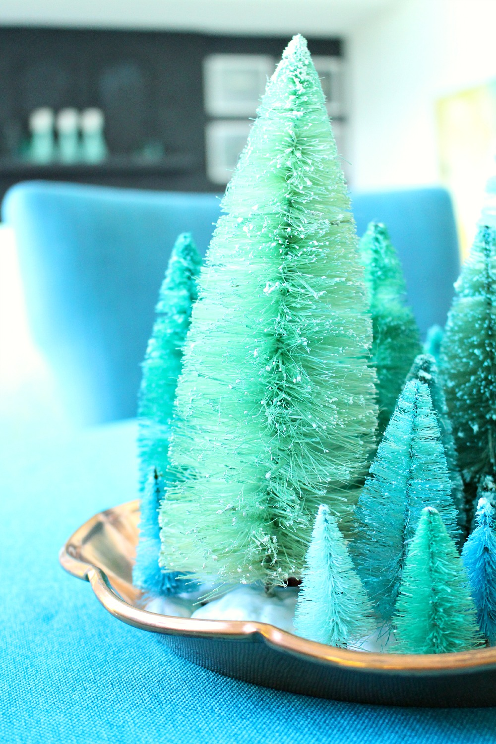 How to Bleach and Dye Bottle Brush Trees