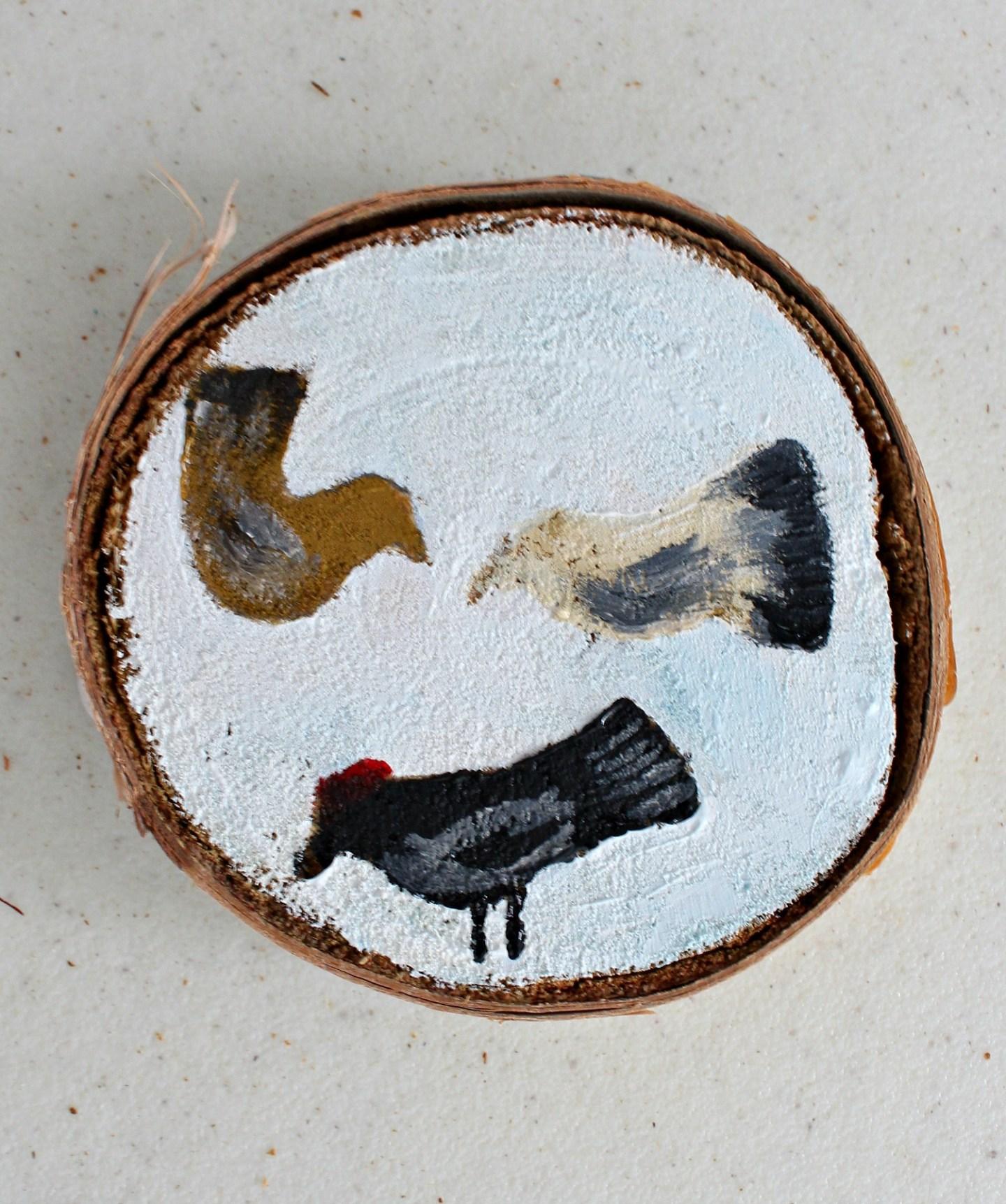 Birch Slice Ornament