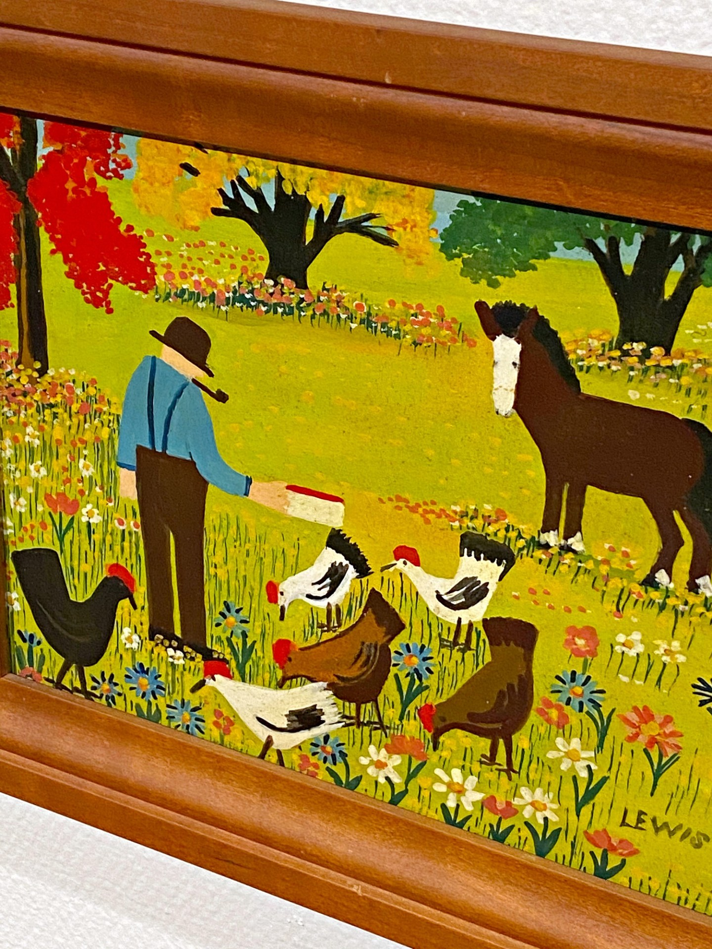 Maud Lewis Painting of Chickens