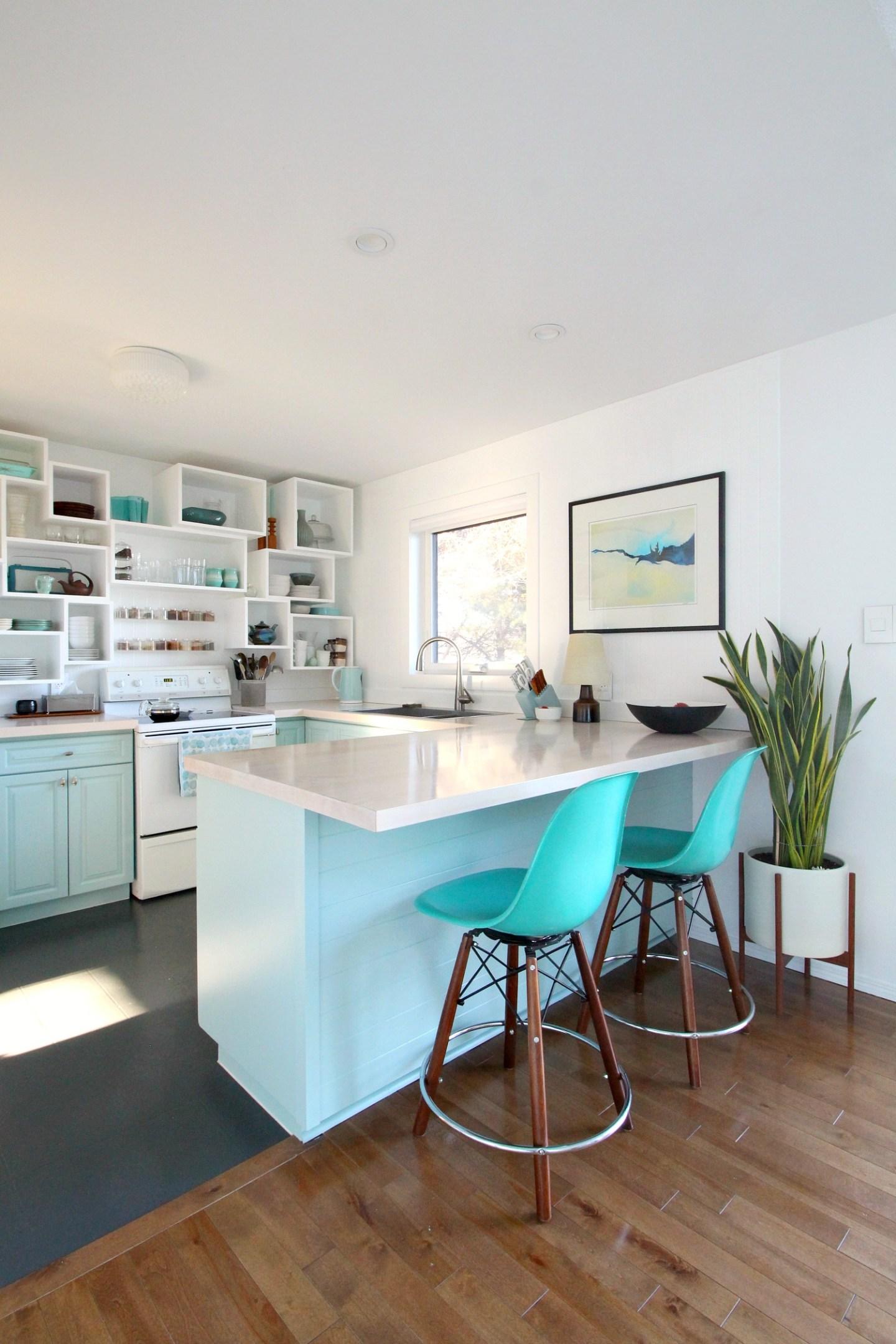 Pale Aqua Kitchen Cabinets