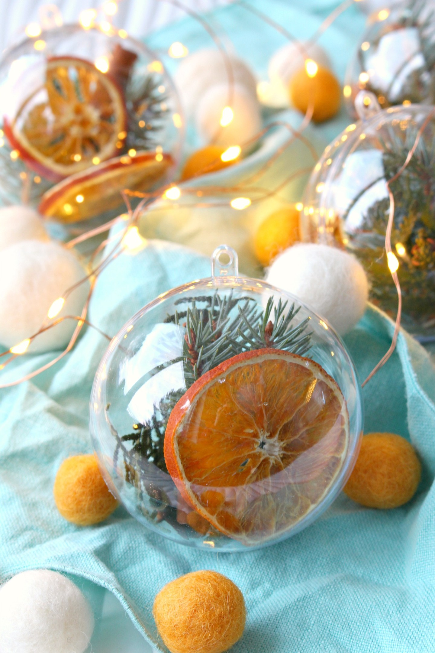 Dried Orange Slice and Spice Ornament