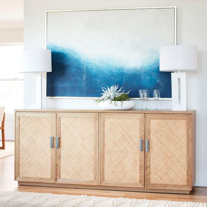 Indigo blue beachy artwork