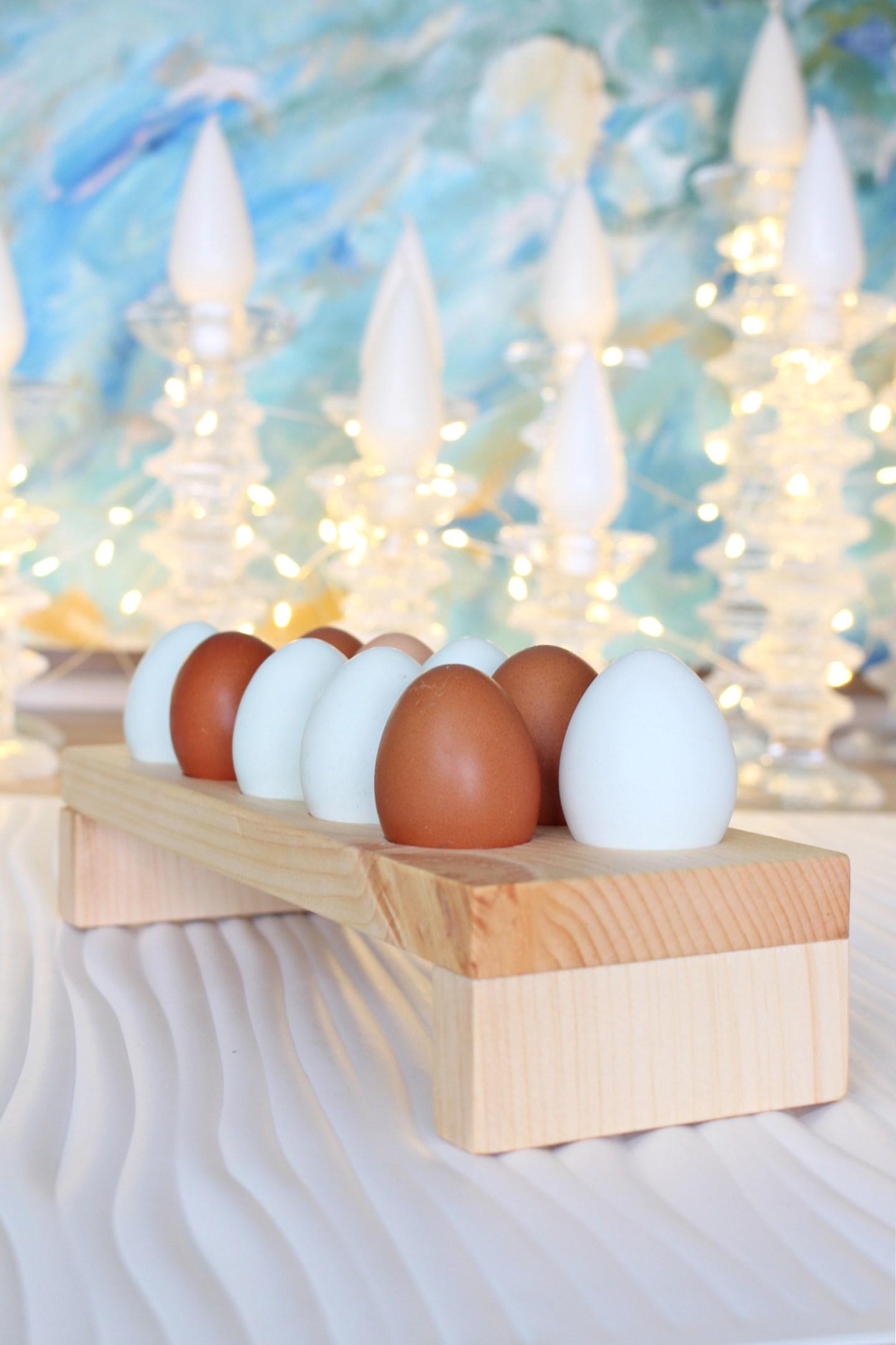 DIY wooden egg holder