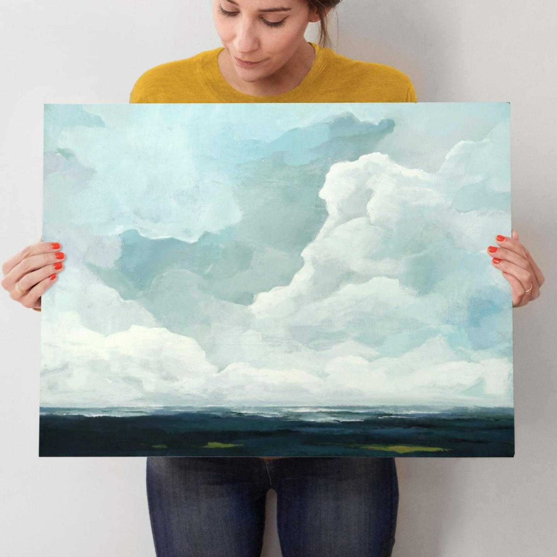 moody coastal art print