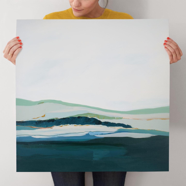 Modern coastal print