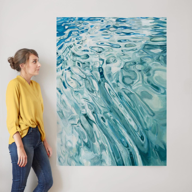 Water ripple painting