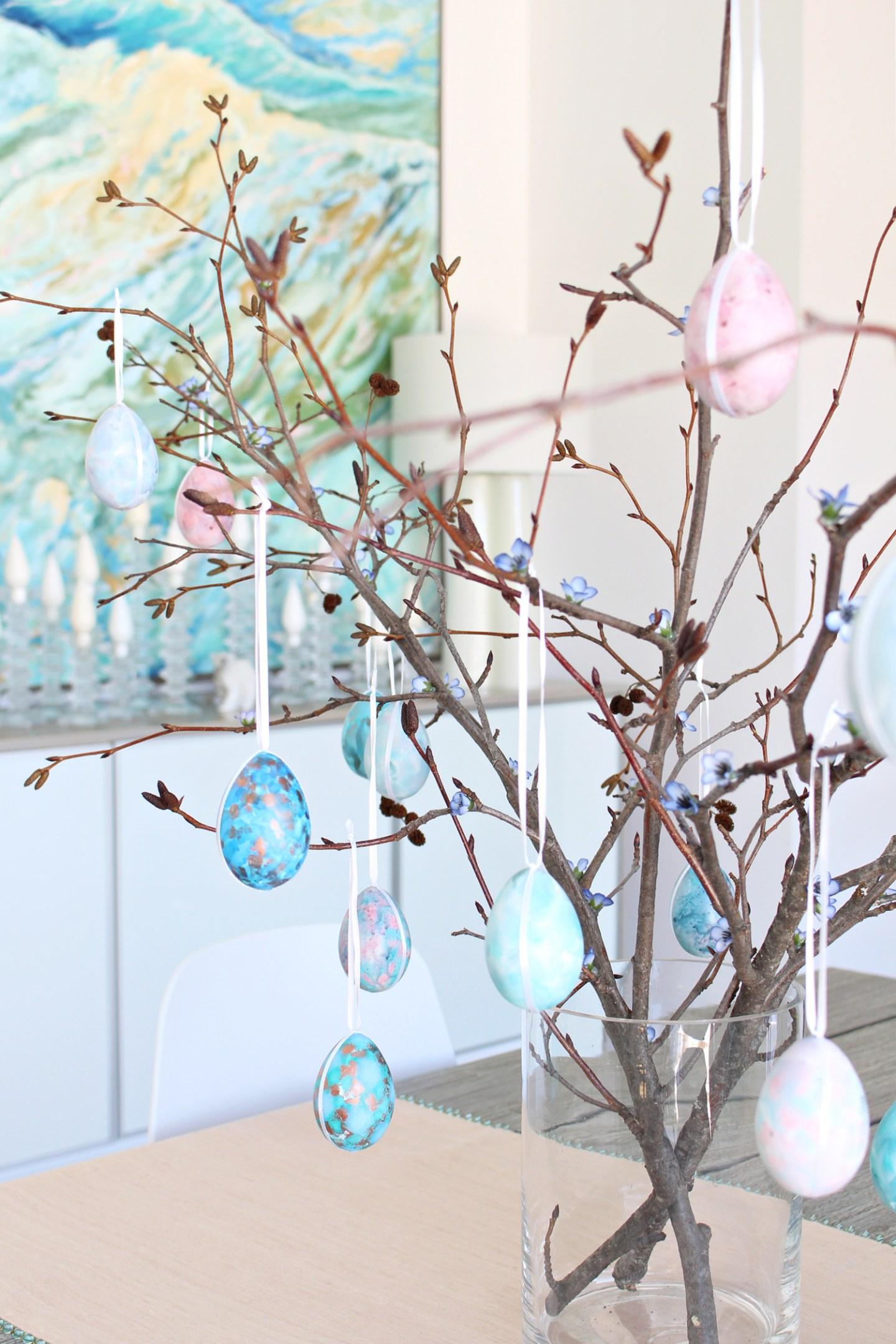 Pastel Easter Egg Tree DIY