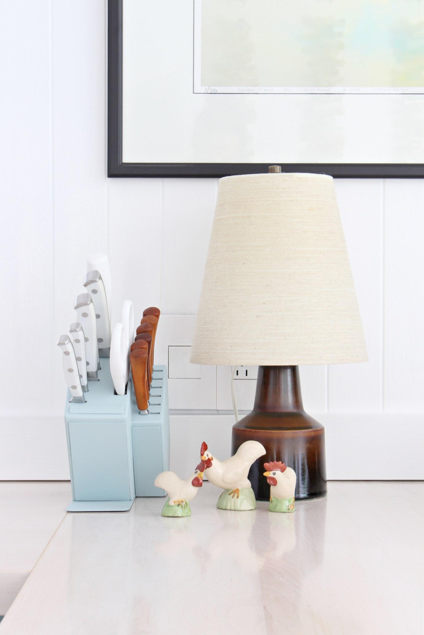 thrifted chicken figurines