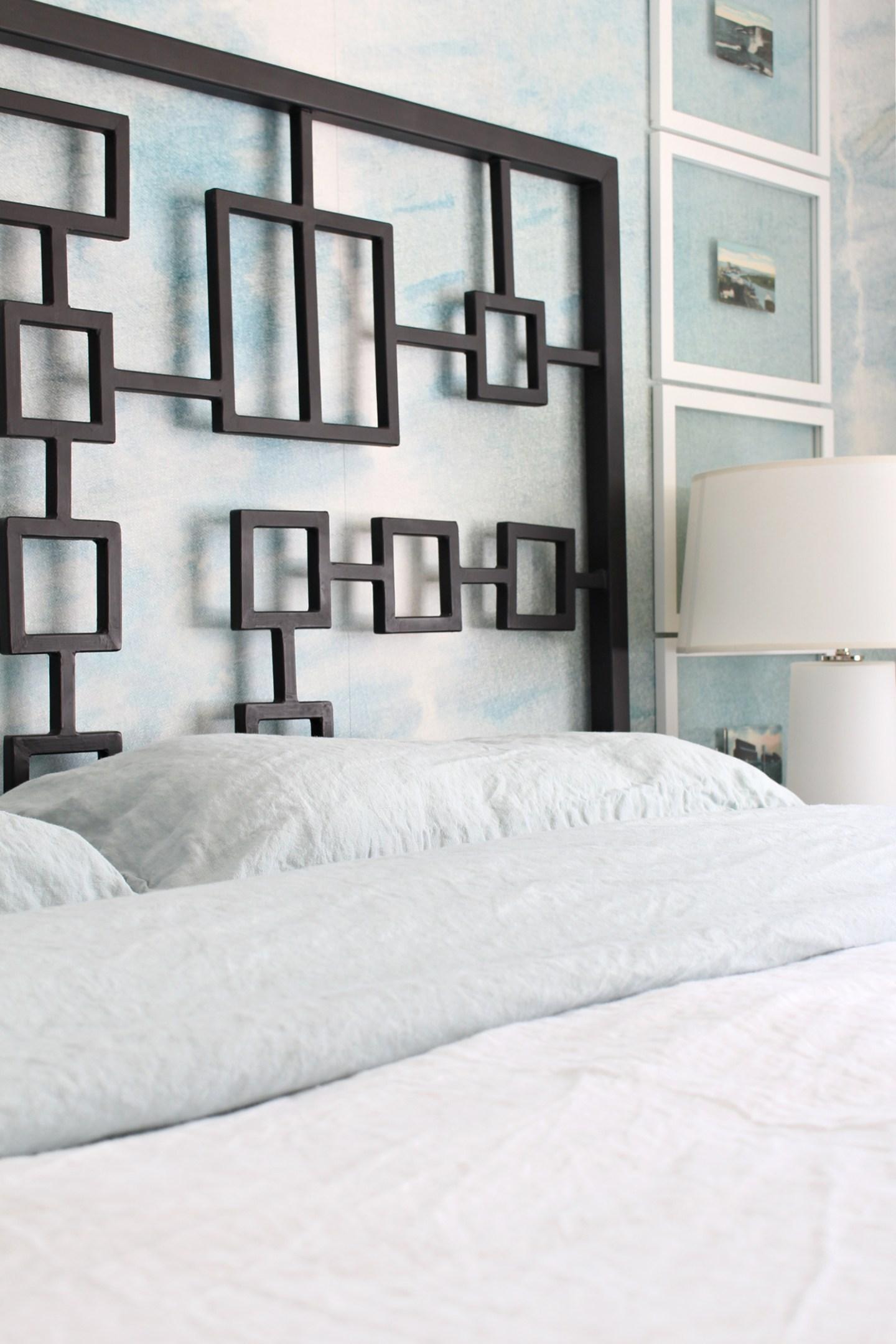 Pale Aqua Linen Bedding