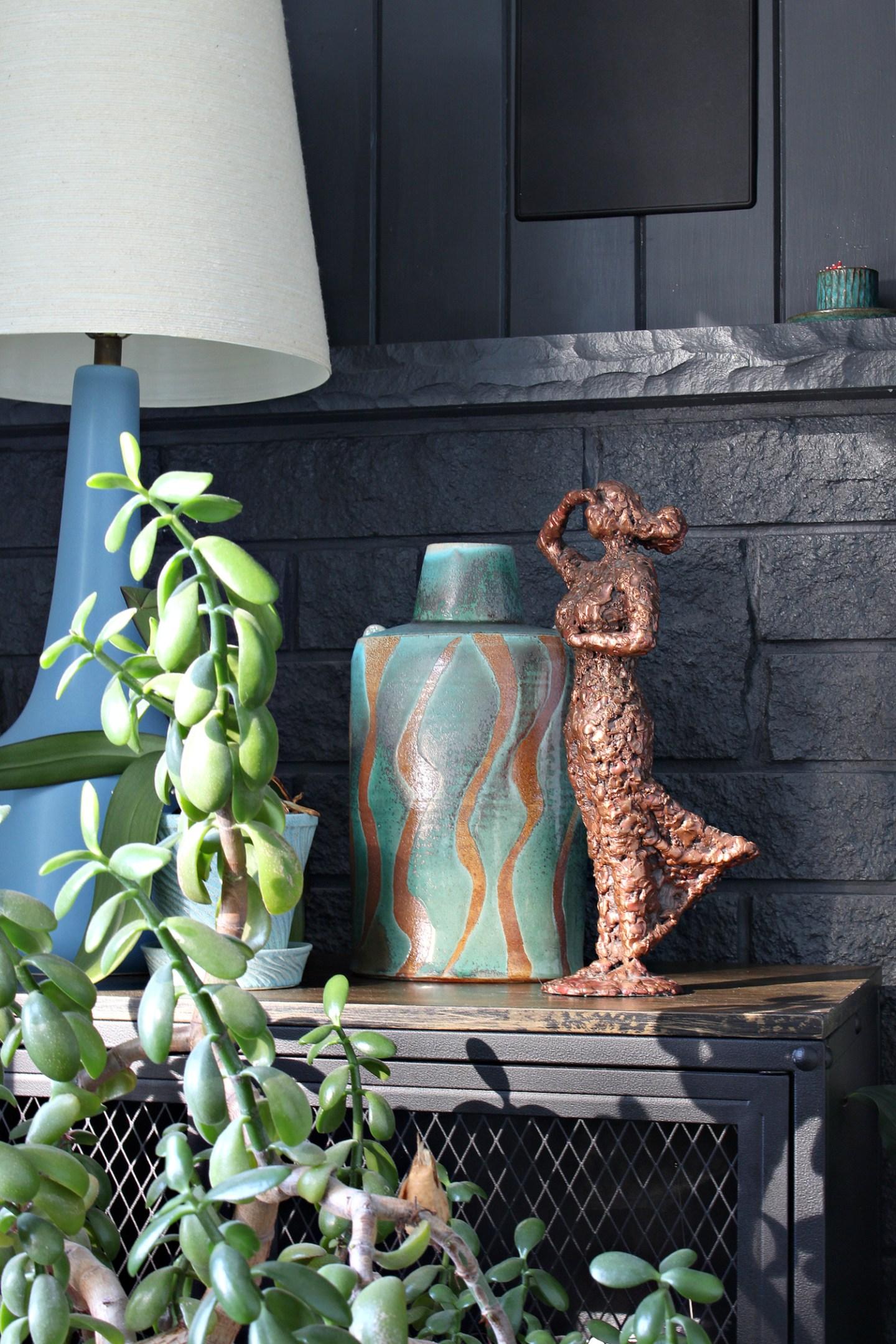 Turquoise Pottery Vase