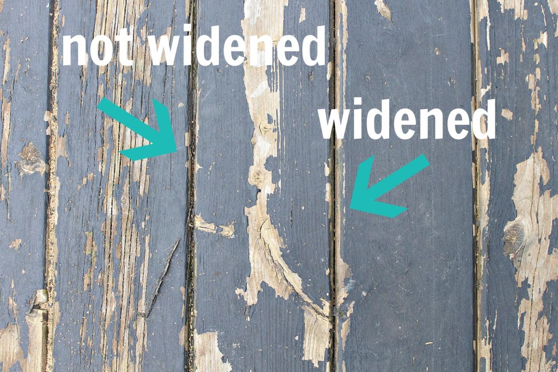 Fix Too Narrow Gaps Between Deck Boards