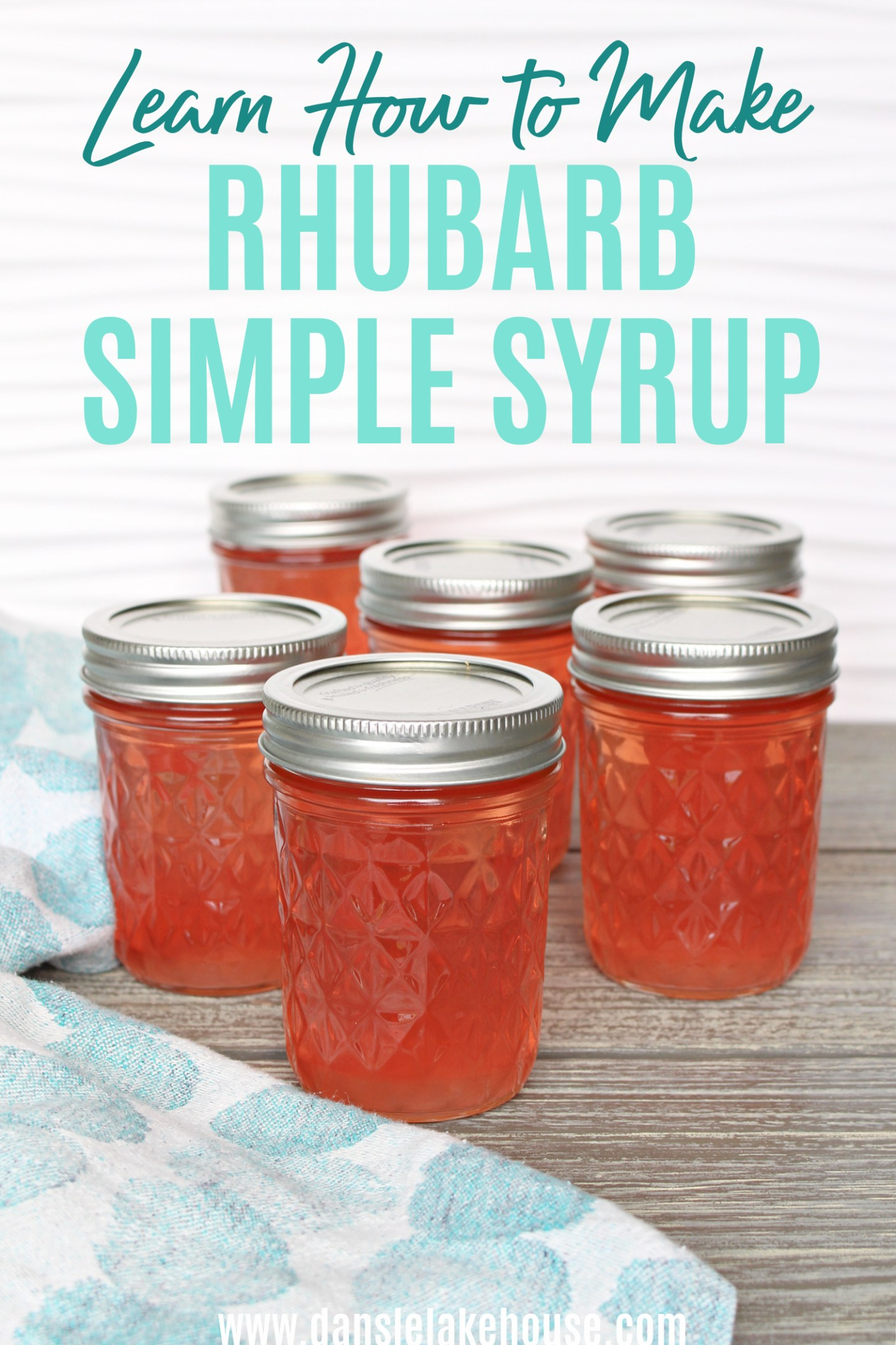 Learn How to Make Rhubarb Simple Syrup