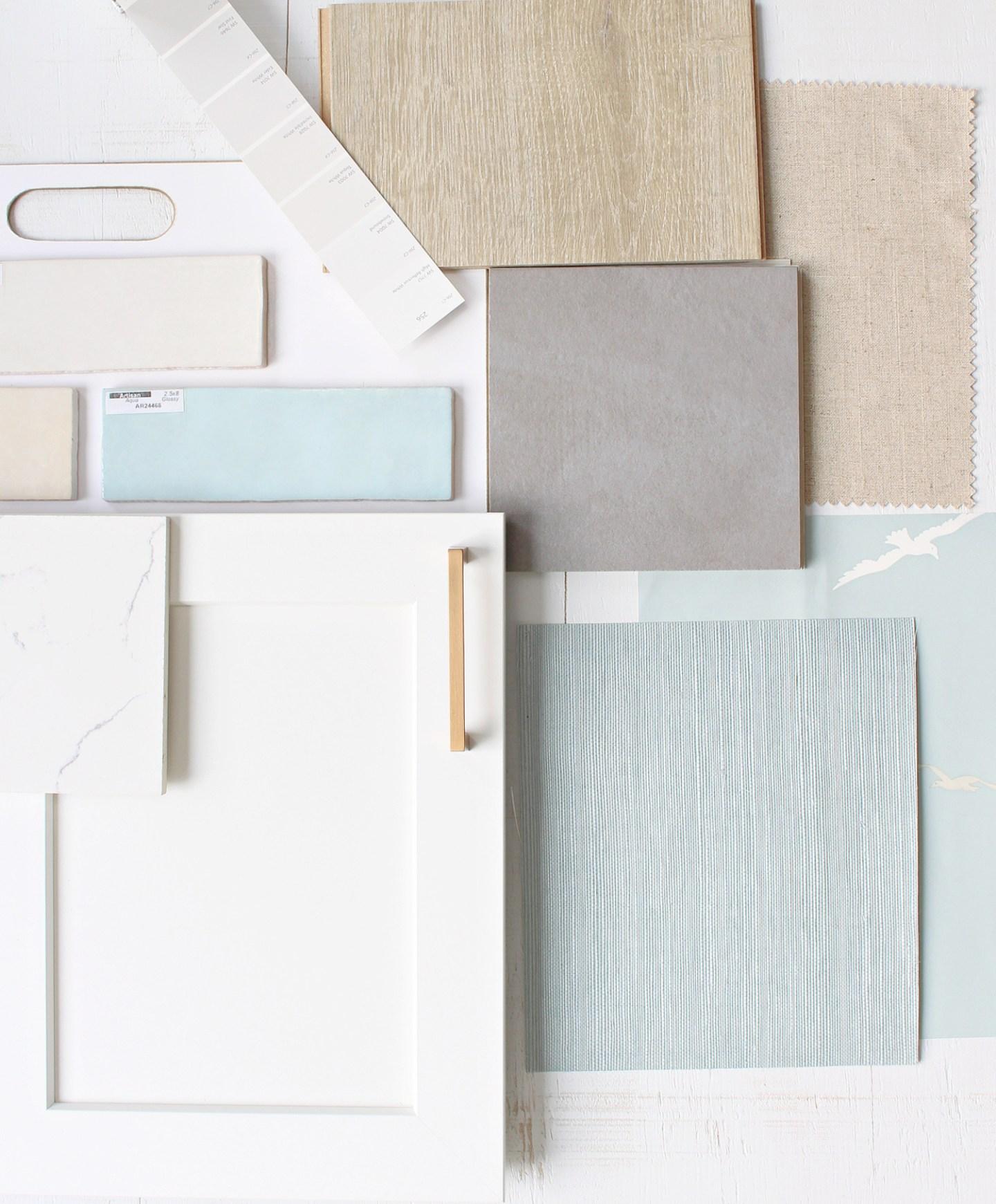 Coastal Mood Board with Carpet One Floor & Home