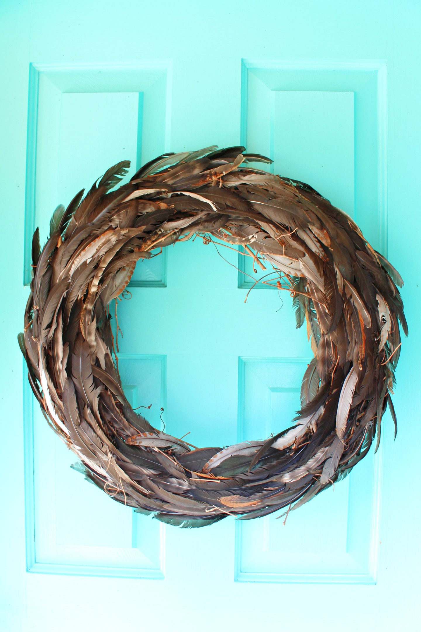 DIY Feather Wreath (Using Feathers My Chickens Molted)
