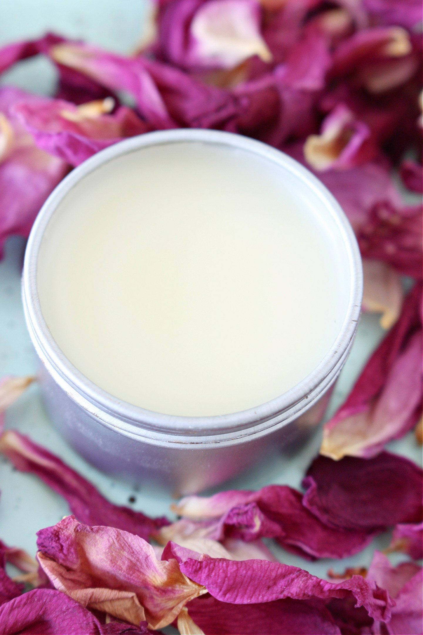 DIY Rose Petal Salve with Rose Petal Infused Oil