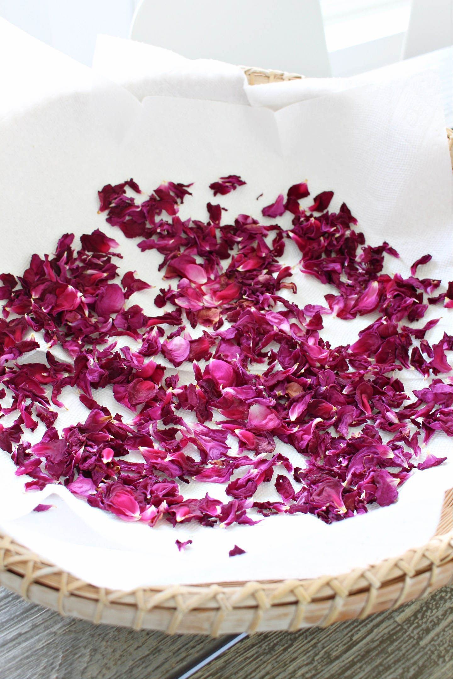Dried Rose Petal Projects