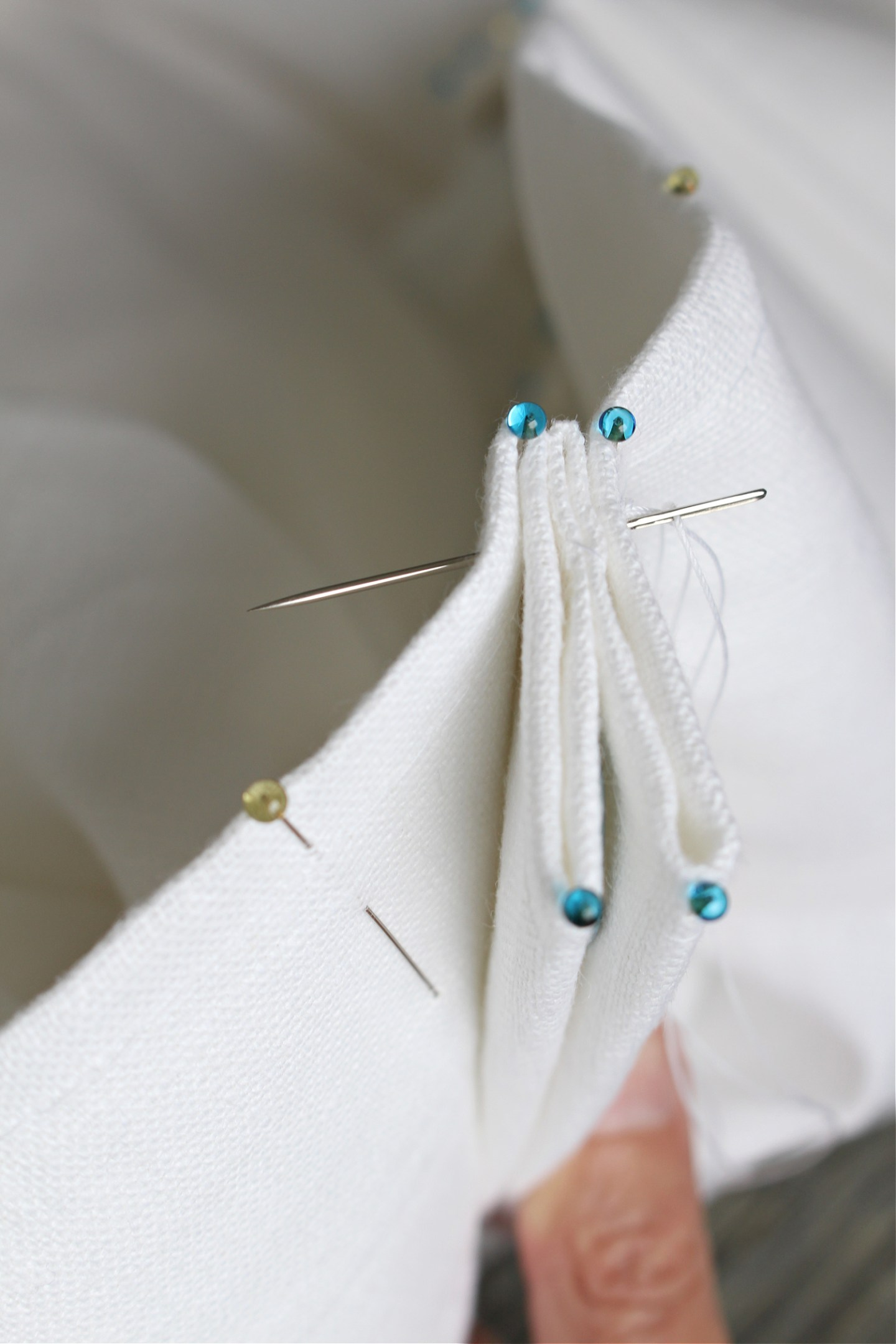 How to Hand Stitch Sew Euro Pleats