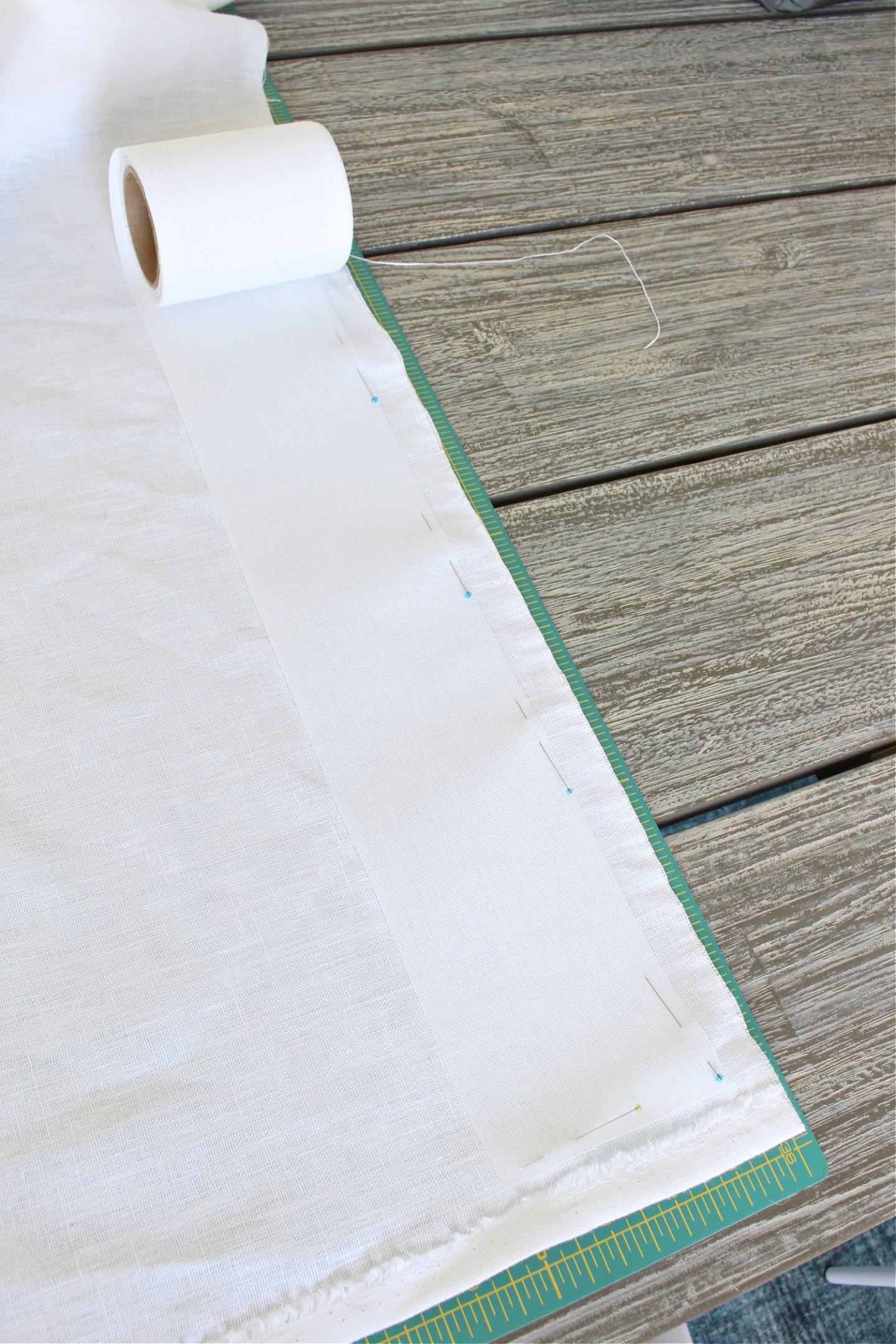 Using Buckram Tape Instead of Pleater Tape