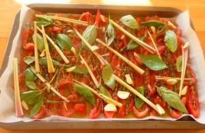 tomates confites avant la cuisson