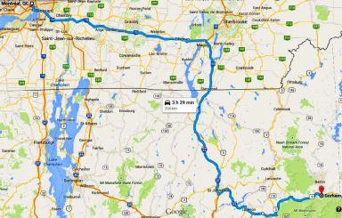 Google Maps - Montreal-Gorham NH