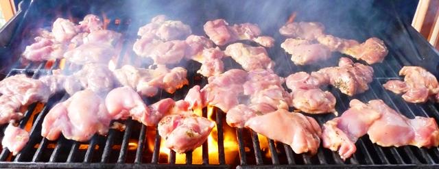 haut cuisse poulet cuisson bbq