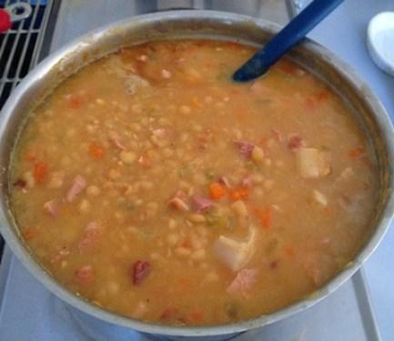 soupe aux pois - cuisson