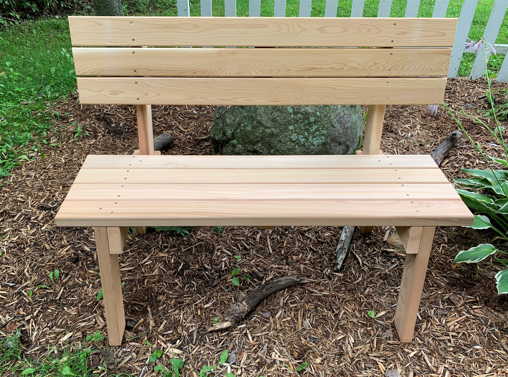 Two Person 48 Quot Red Cedar Park Bench For Home Or Business