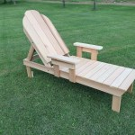 Western Red Cedar Reclining Lawn Or Pool Chaise Lounge