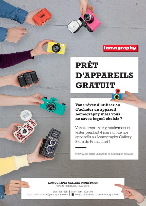 Lomography Paris prête gratuitement ses appareils!
