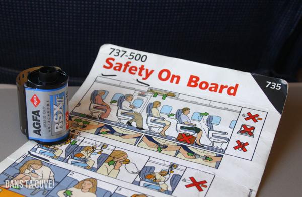 Des consignes de sécurité s'appliquent aussi aux pellicules