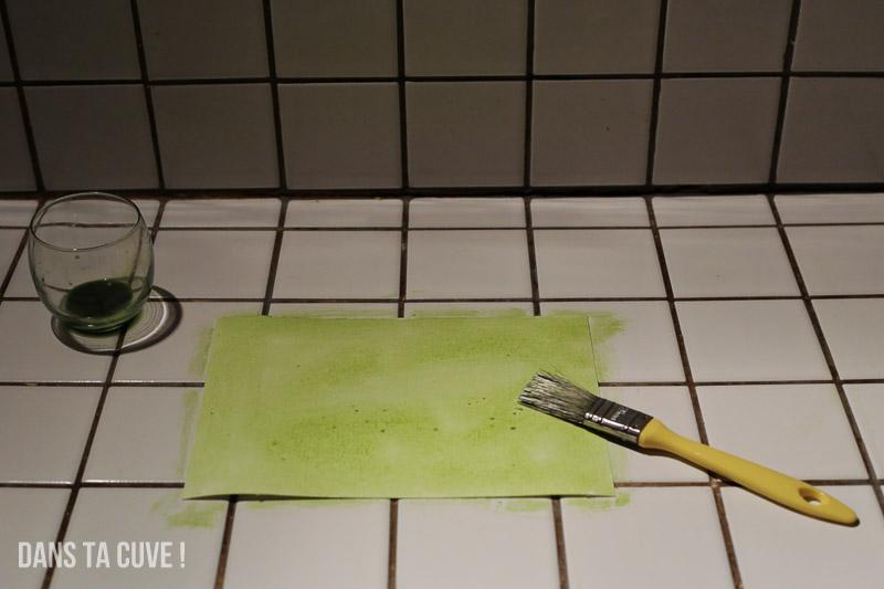 Avez vous déjà peint du jus d'épinard ?