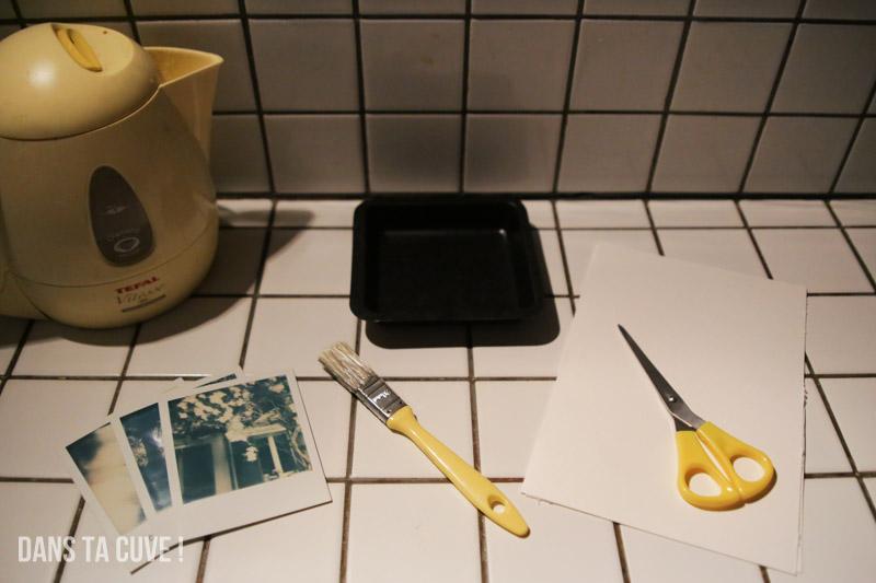 Ce qu'il vous faut pour faire un transfert d'émulsion à partir de Polaroid